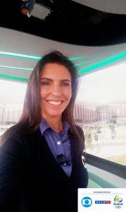 Glenda Kozlowski, uma das apresentadoras da TV Globo (Crédito: Reprodução)